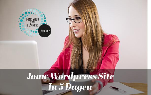 Jouw WordPress site in 5 dagen